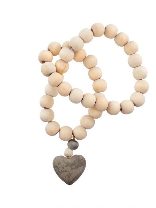 Heart Prayer Beads. Small.
